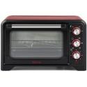 Cuptor electric Girmi FE2000, 1380W, 20L, 230 grade, convectie, grill, timer, rosu/negru