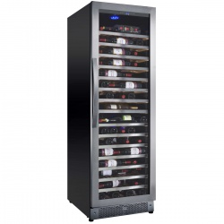 Racitor de vinuri Nevada Concept NW171S-SSL, 171 sticle, negru/inox