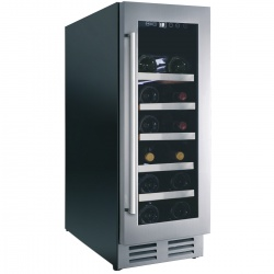 Vitrina de vinuri Nevada Concept NW20S-SSL, 20 sticle, negru/inox
