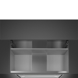 Hota incorporabila Smeg Dolce KSGT74B, 86 cm, 573 m3/h, inox/ sticla alba