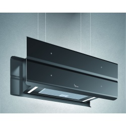 Hota design suspendata Baraldi Modus 01MOD090BL70, 90 cm, 700 m3/h, negru