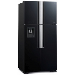 Side by Side Hitachi R-W660PRU7(GGR), Clasa A+, 540 Litri, No Frost, dispenser apa, sticla gri