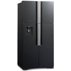 Side by Side Hitachi R-W660PRU7(BLS), Clasa A+, 540 Litri, No Frost, dispenser apa, argintiu