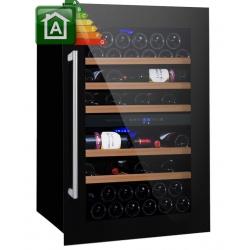 Vitrina de vinuri Nevada Concept NW59D-SSL, 59 sticle, Negru/inox