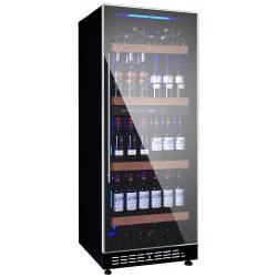 Vitrina de vinuri Vinum Design Clasic VD80S-FGS, 70/80 sticle, 1 zona temperatura, Negru