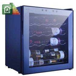 Vitrina de vinuri Vinum Design Clasic VD40SCSW, 40 sticle, 1 zona temperatura, Negru / inox