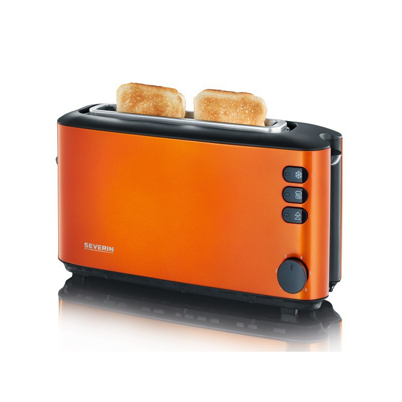 Toaster Automat Severin AT 9735,1000W,2 felii de paine,orange metalizat,negru