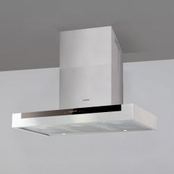 Hota decorativa Nodor ORION 900, A+, 100W, 10 nivele de extractie, 90 cm, alb