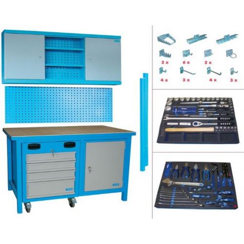Banc de lucru cu masa si sertare SET MEGA 136 TLG - 00732