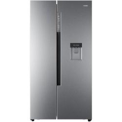 Side by Side Haier HRF-522IG6, 500 l, Clasa A+, No Frost, H 179 cm, Dispenser, Argintiu