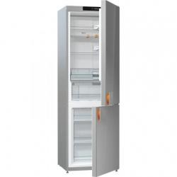 Combina frigorifica Gorenje by Starck NRK612ST, 307 l, Clasa A++, No Frost, H 185 cm, Sticla Gri
