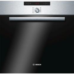 Cuptor incorporabil Bosch HBA64B056F, 6 functii, 57 l, Electric, Grill, Timer, Autocuratare cu piroliza, Clasa A, Inox
