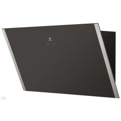Hota incorporabila semineu Electrolux EFV90657OK, Design inclinat, Putere de absorbtie 550 mc/h, 1 motor, 3 viteze, 90 cm, Negru