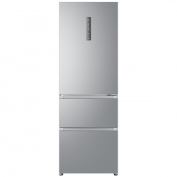 Combina frigorifica Haier A3FE632CSJ, Clasa A+, 302 KWh/an, 300L, No Frost, Argintiu