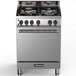 Aragaz Bompani Tech BO613GB/N, 60x60 cm, gaz, 4 arzatoare, aprindere electronica, grill, inox