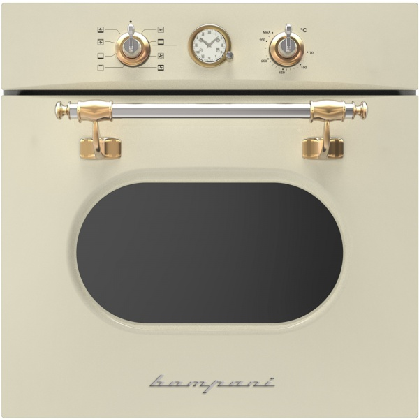 Cuptor incorporabil Bompani Retro BO246WA/E, electric, multifunctional, 60cm, 54l, crem