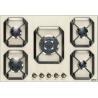 Plita incorporabila Lofra Dolcevita HRBI7A0/GA, 75 cm, plita gaz, 5 arzatoare,sistem siguranta Stop-Gaz,butoane bronz, crem
