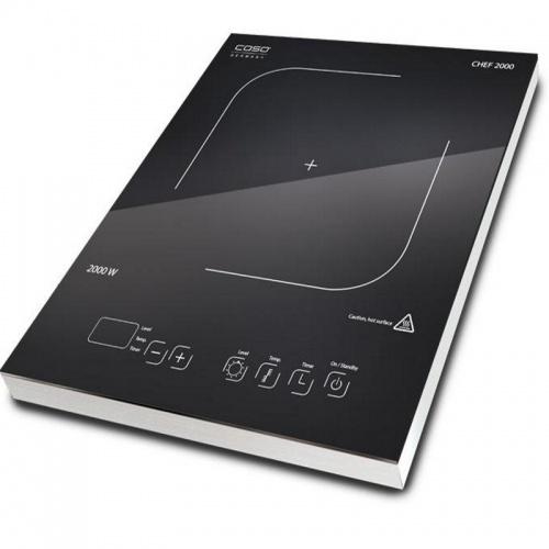 Plita cu inductie Caso Chef 2000,2000W,10 nivele de putere,negru