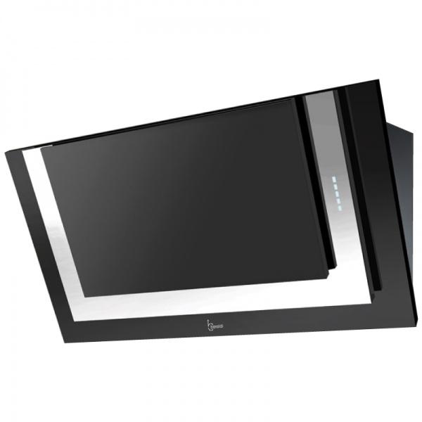 Hota design Baraldi Divina 01DIV090STB80, 90 cm, 800 m3/h, negru/otel inoxidabil