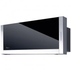 Hota design Baraldi Frame 01FRA090STB80, 90 cm, 800 m3/h, sticla neagra/inox