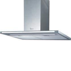 Hota design Baraldi Lumina 01LUM090STW80, 90 cm, 800 m3/h, sticla alba/inox