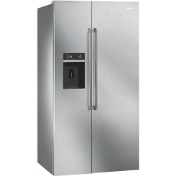 Side by side SMEG CLASSICA SBS63NED, Clasa A+, 616 litri, Latime 91 cm, total No Frost, negru