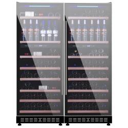 Vitrina de vinuri Vinum Design Clasic VD200Q-FGM, 200 sticle, 4 zone temperatura, Negru