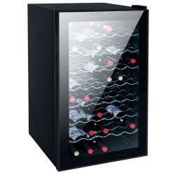 Vitrina de vinuri Vinum Design Clasic VD50SMC, 50 sticle, 1 zona temperatura, Negru