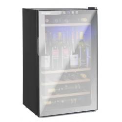 Vitrina de vinuri Vinum Design Clasic VD60SMCW, 60 sticle, 1 zona temperatura, Negru