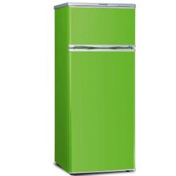 Combina frigorifica Severin KS9785,A +,208 kWh /an,frigider:166 litri / congelator:46 litri,verde