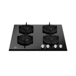 Plita incorporabila Bertazzoni La Germania, 60 cm, 4 arzatoare, aprindere electrica, siguranta gaz, grilaje fonta, sticla neagra