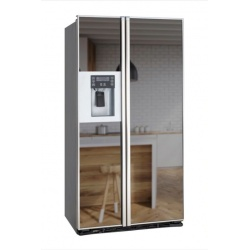 "Side by side incorporabil IOMABE Lux ""KB"" Series ORE24CGFKB200, clasa A+, 572 l, No Frost, Inox cu front Oglinda Fumurie"
