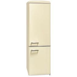 Combina frigorifica RETRO Exquisit RKGC 250 / 70-16 A ++ MW, Clasa A++, Volum net 244L, No Frost, Crem