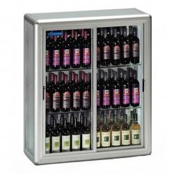 Vitrina de vinuri Tecfrigo SNELLE WINE 250 SG,capacitate 680 l, temperatura +4 +10°C/+5 +16°C, argintiu