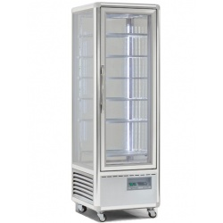 Vitrina frigorifica de cofetarie Tecfrigo Snelle 400 GBT, capacitate 400 l, temperatura -5/-18°C, argintiu