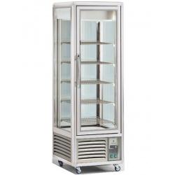 Vitrina frigorifica de cofetarie Tecfrigo Snelle 400 GS, capacitate 400 l, temperatura +4/+10°C, argintiu