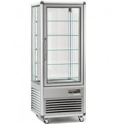 Vitrina frigorifica de cofetarie Tecfrigo Snelle 505 Q Cioccolato, capacitate 500 l, temperatura +14/+16°C, argintiu