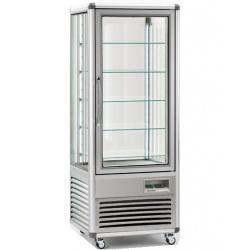 Vitrina frigorifica de cofetarie Tecfrigo Snelle 505 BTQ BIS, capacitate 500 l, temperatura +5/-18°C, argintiu