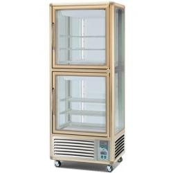 Vitrina frigorifica de cofetarie Tecfrigo Snelle 530 G-G, capacitate 530 l, temperatura +2/+10°C, argintiu/auriu
