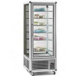 Vitrina frigorifica de cofetarie Tecfrigo Snelle 550 GBT, capacitate 550 l, temperatura -5/-18°C, argintiu