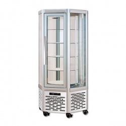 Vitrina frigorifica de cofetarie Tecfrigo Snelle 630 RBT BIS, capacitate 570 l, temperatura +5/-18°C, argintiu