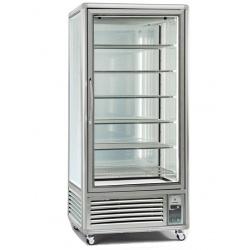 Vitrina frigorifica de cofetarie Tecfrigo Snelle 650 GBT, capacitate 650 l, temperatura -10/-19°C, argintiu