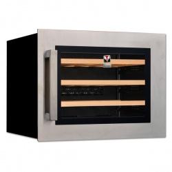 Vitrina vinuri incorporabila Tecfrigo Sommelier 24 Plus, capacitate 51 l, temperatura +5/+20, negru