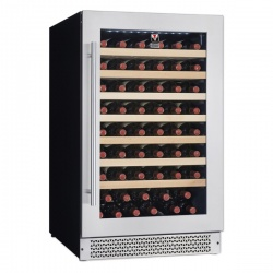 Vitrina vinuri incorporabila Tecfrigo Sommelier 80/1 Plus, capacitate 120 l, temperatura +5/+20, negru