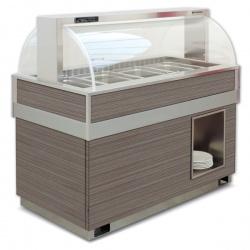 Vitrina frigorifica calda FUTURA 4 SS, temperatura +4/+10C, lemn pin