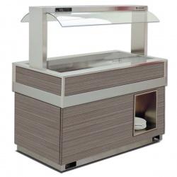 Vitrina frigorifica rece FUTURA GOURMET 4, temperatura -1/0C, lemn pin