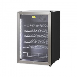 Vitrina de vinuri Tecfrigo WINE POINT 130, 130 l , 46 Sticle, temperatura +5 / +18 °C, negru / argintiu