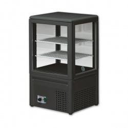 Vitrina frigorifica Tecfrigo MICRON I, capacitate 68 L, temperatura +4/+10º C, negru