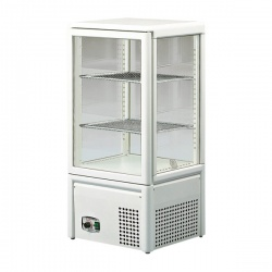 Vitrina frigorifica Tecfrigo MICRON II, capacitate 93 L, temperatura +4/+10º C, alb