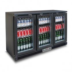 Vitrina verticala frigorifica pentru bauturi Tecfrigo PUB 315 PS, capacitate 382 l, temperatura +2/+8º C, negru
